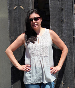Spense Sleeveless Top-Latte