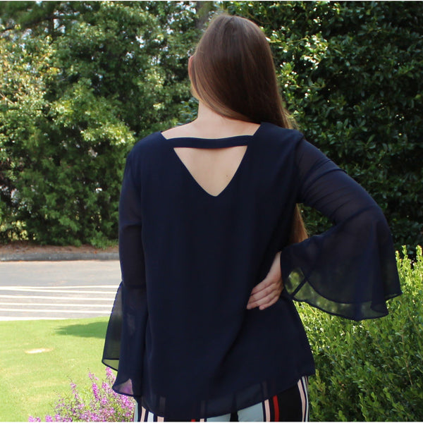 Sharagano Bell Sleeve Top