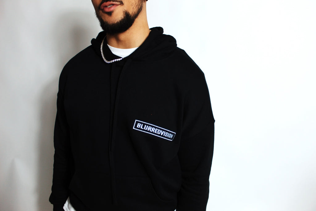 Ultra Cotton Logo Hoodie - BLACK