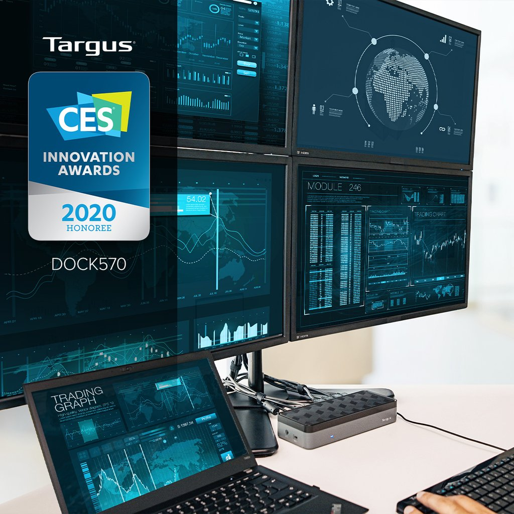 Targus Named CES 2020 Innovation Awards Honoree for World's First USB-C Universal Quad 4K Docking Station with Power