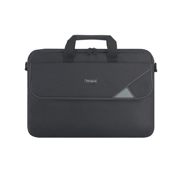 "15.6"" Intellect Topload Laptop Case - Black/Grey"