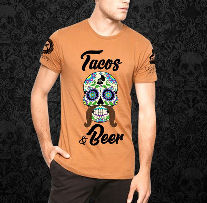 """Tacos & Beer"" – Orange Shirt"