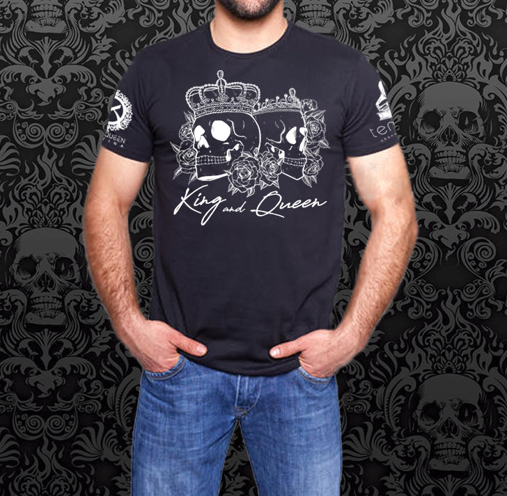 Black and White Double Skull Shirt