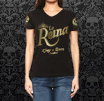 """La Reina"" Gold with Black Shirt"