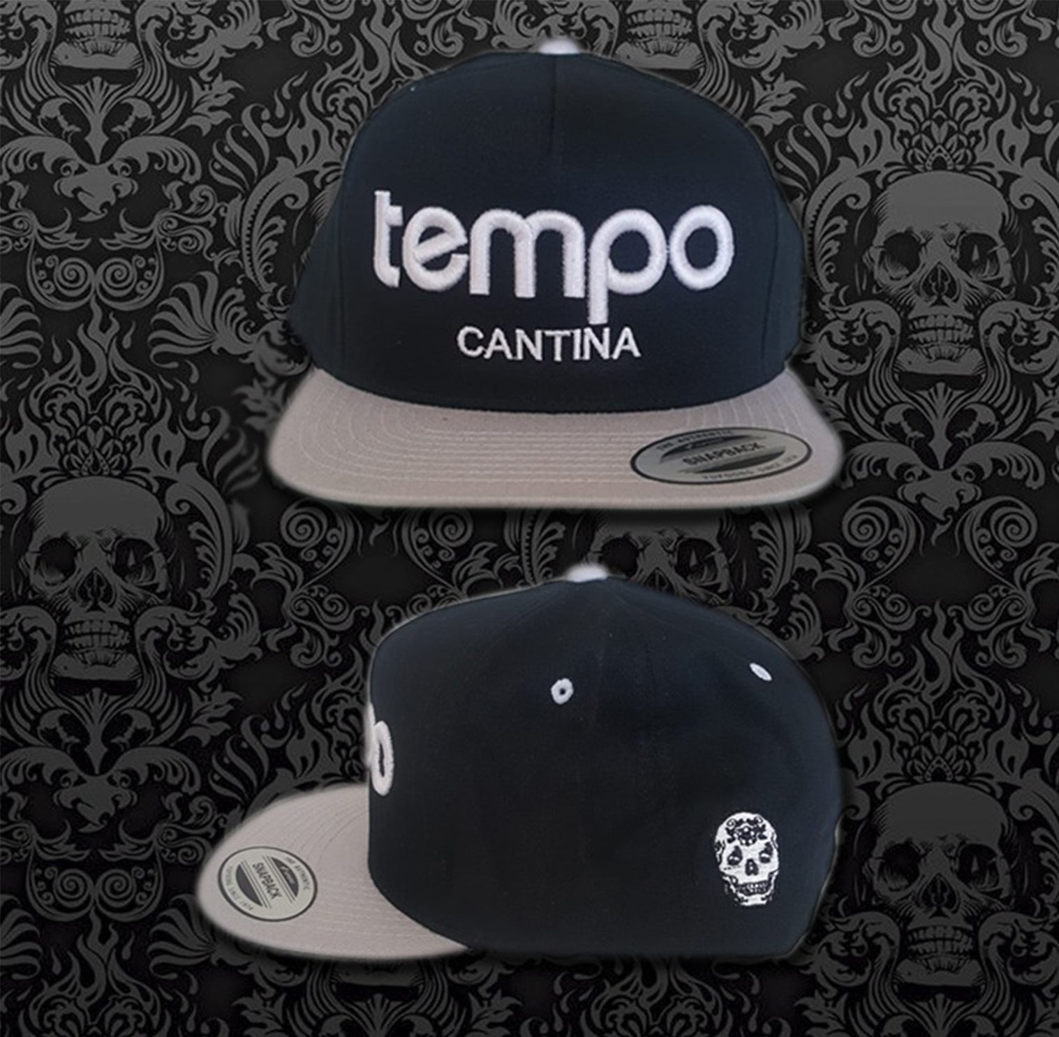 Black and Grey Tempo Hat