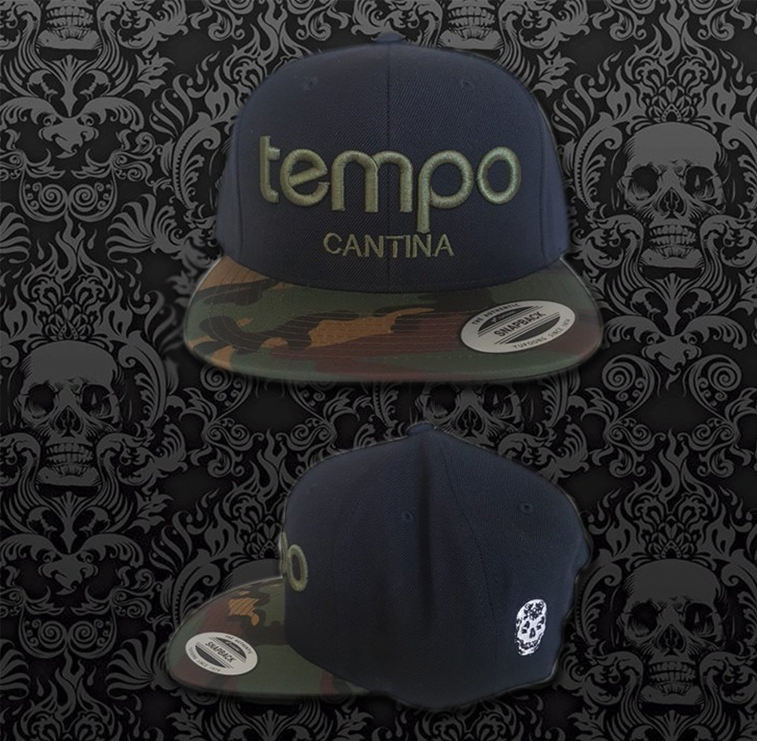 Black with Camo Tempo Hat