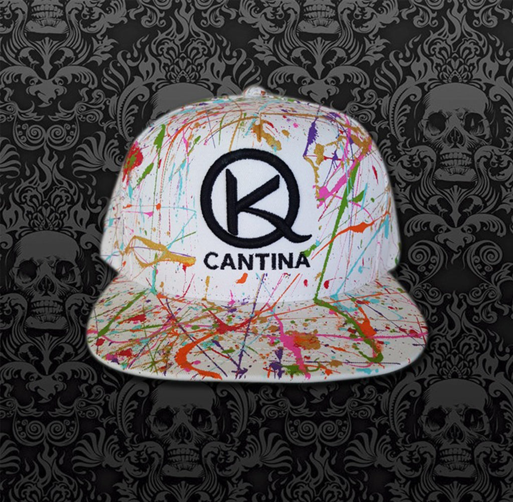 White Neon Splash Hat