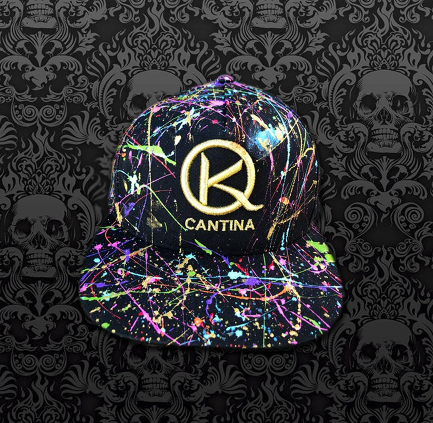 Black Neon Splash Hat
