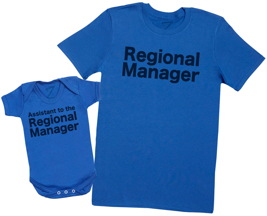 Regional Manager and Assistant - Dad T-Shirt and Baby Vest