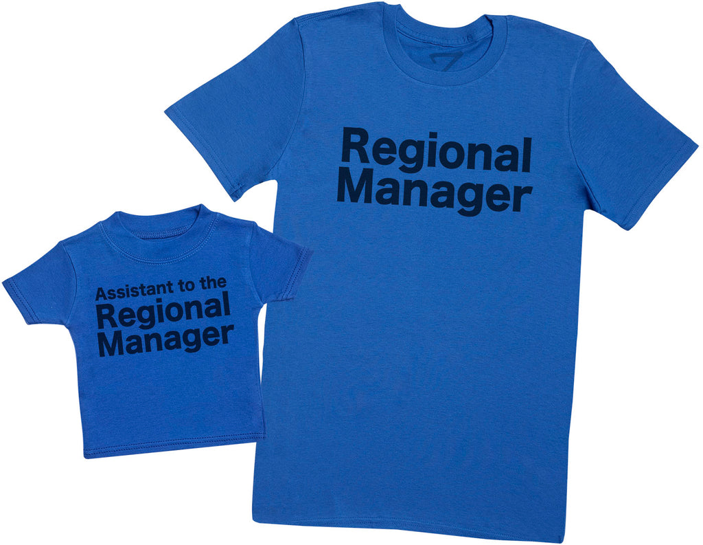Regional Manager and Assistant - Mens T-Shirt and Kids T-Shirt Set