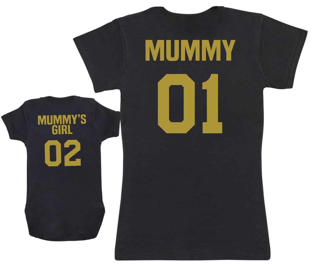 Mummy 01 & Mummy's Girl 02 - Baby Vest & Womens T-shirt