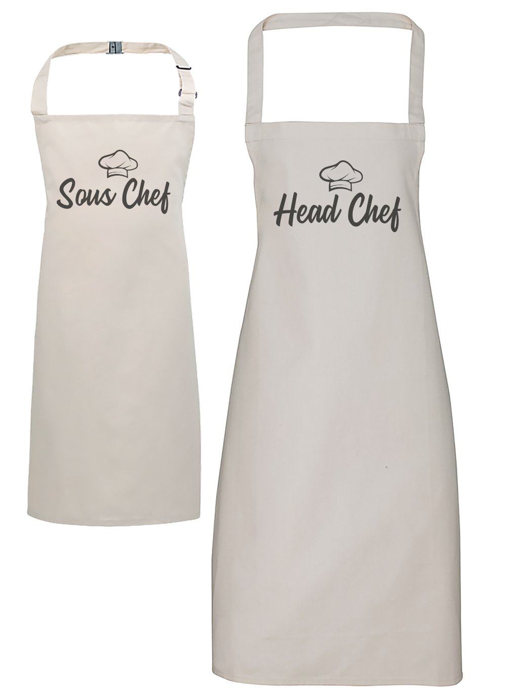 Head Chef & Sous Chef - Adult & Kids Apron Set