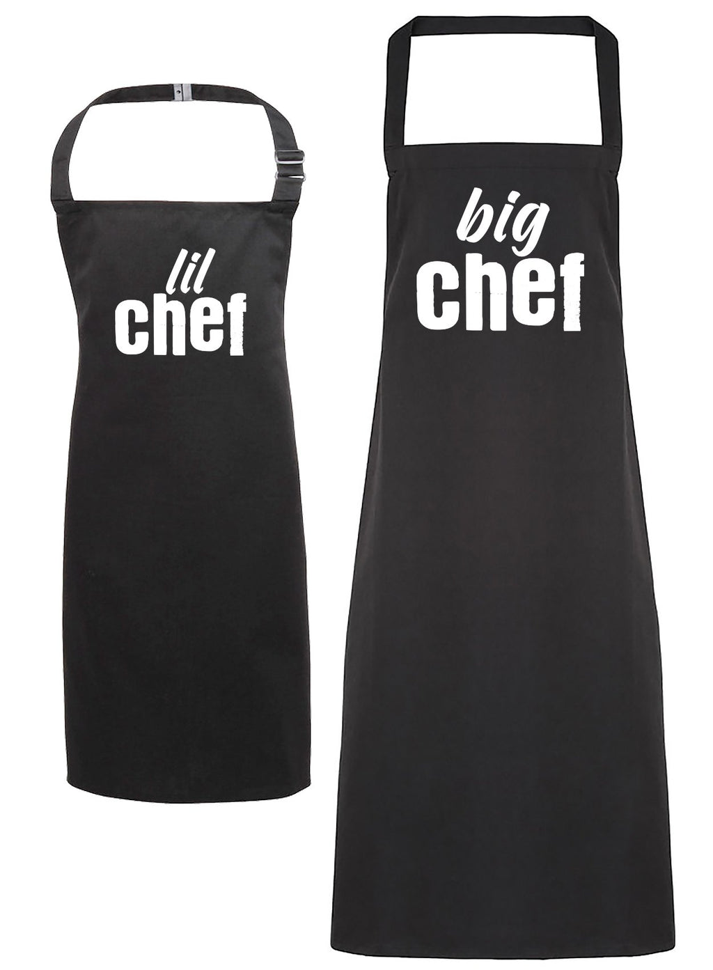 Big Chef & Lil Chef - Adult & Kids Apron Set