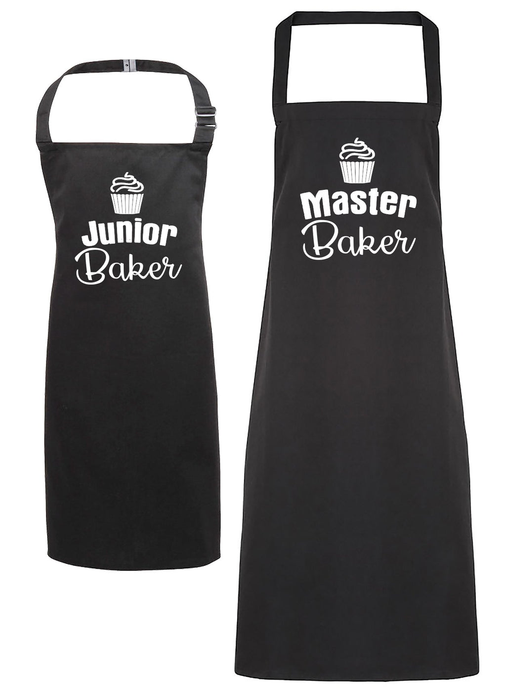 Master Baker & Junior Baker - Adult & Kids Apron Set