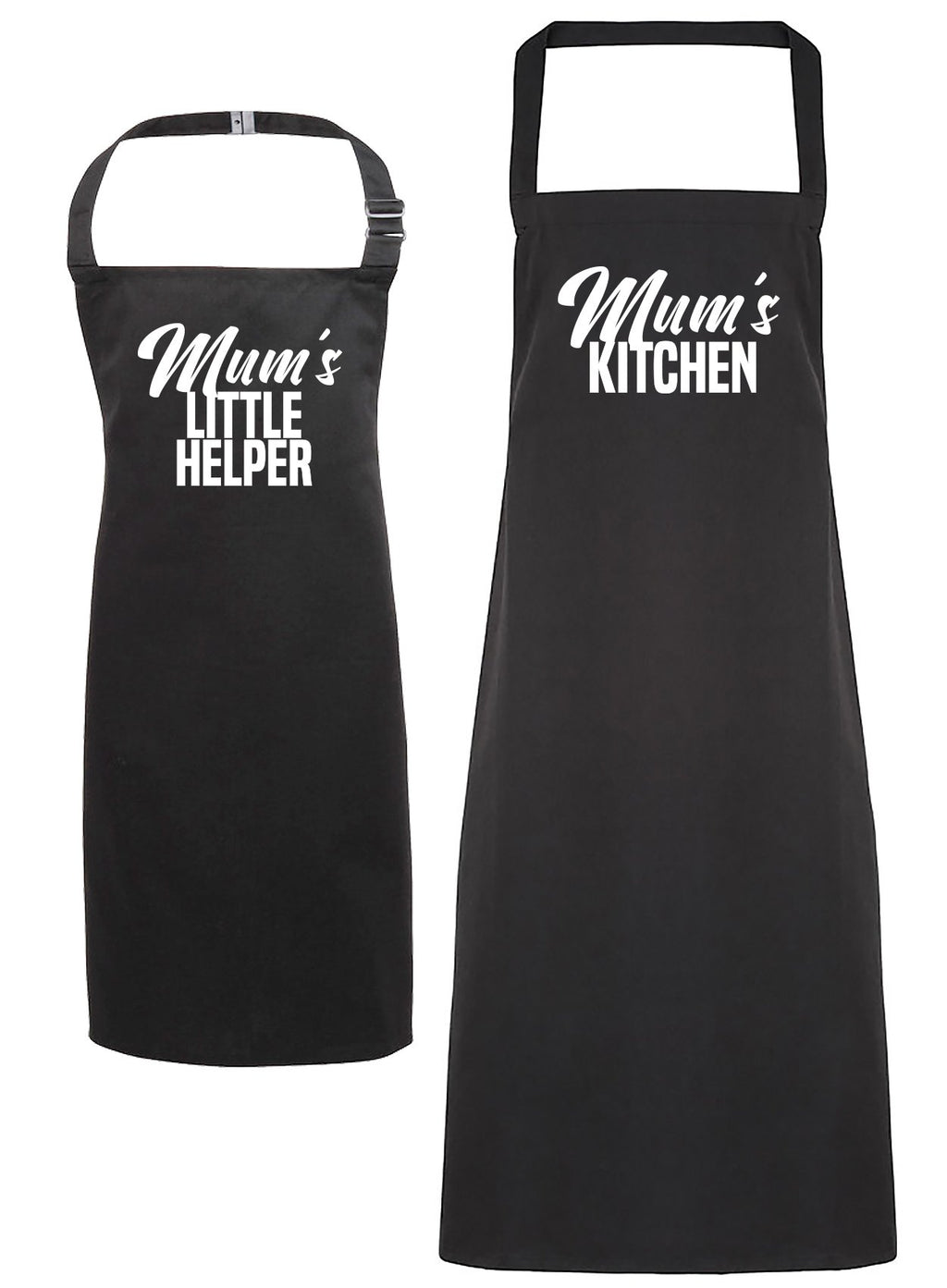 Mum's Kitchen & Mum's Little Helper - Womens & Kids Apron Set