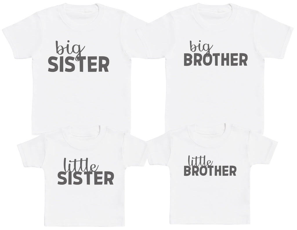 Big Brother & Sister, Little Brother & Sister - Matching Kids Set - Baby / Kids T-Shirts - Gift Set