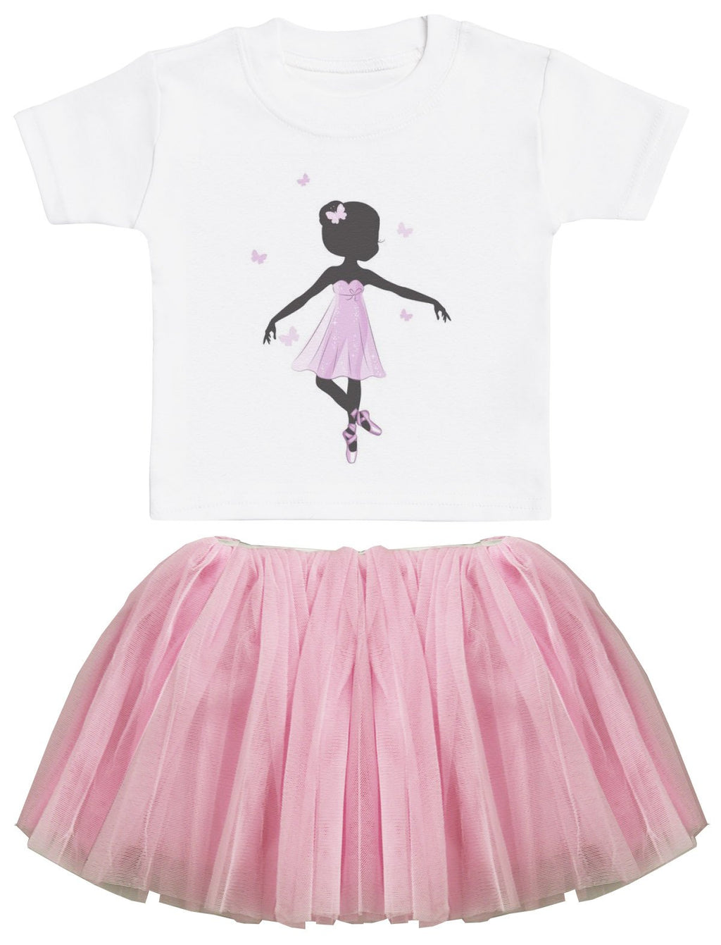 Ballerina Baby T-Shirt and Pink Tutu Set