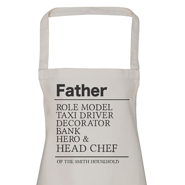 Personalised Father Roles - Men's Apron