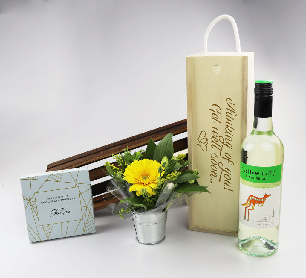 Get Well Soon Hamper With Wine