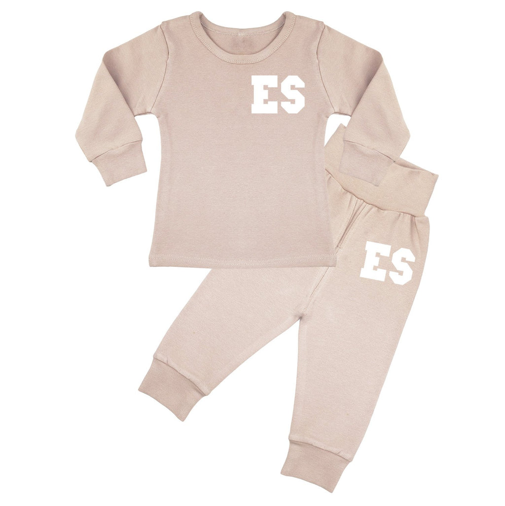 Florida Personalised Initials Lounge Suit - Dusty Pink
