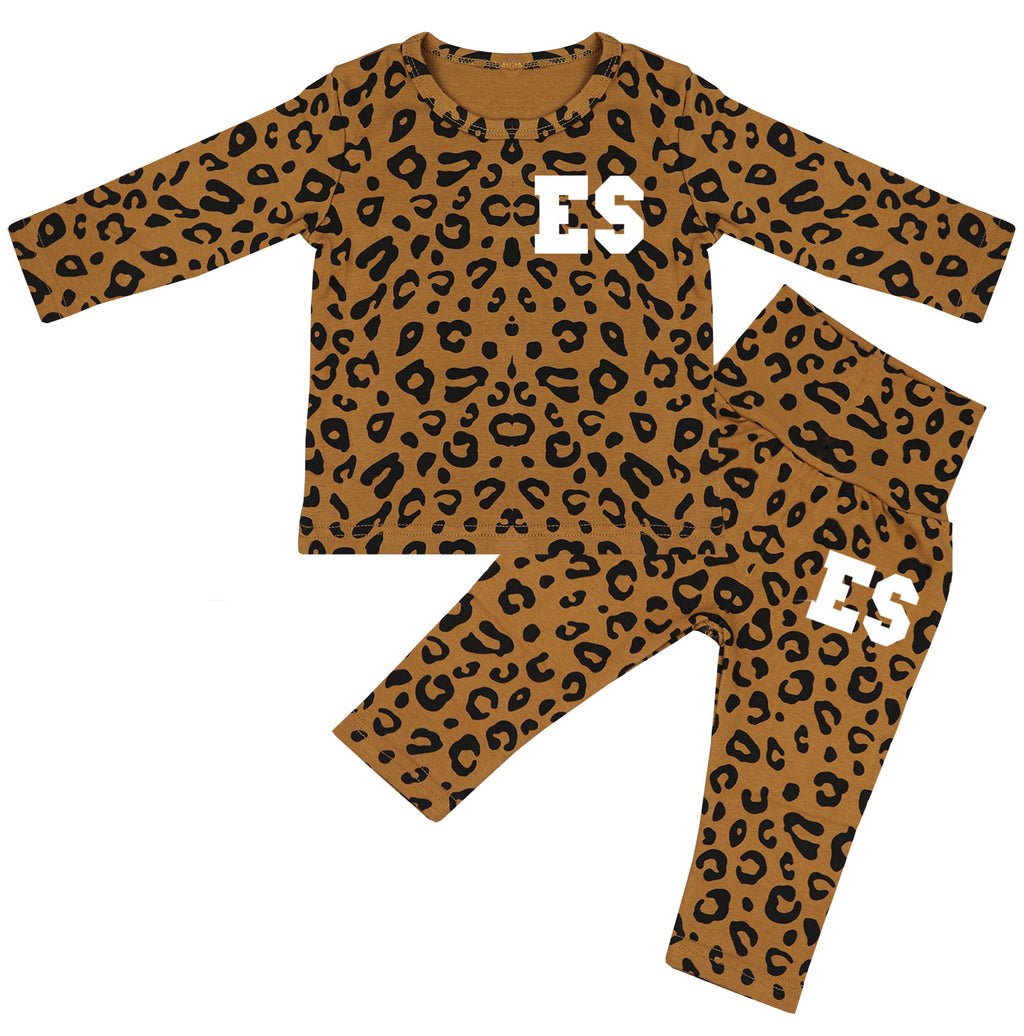 Florida Personalised Initials Leopard Print Lounge Suit