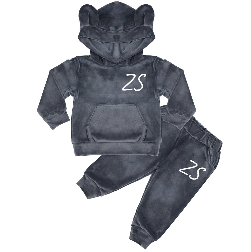 New York Personalised Initials Velour Tracksuit With Ears