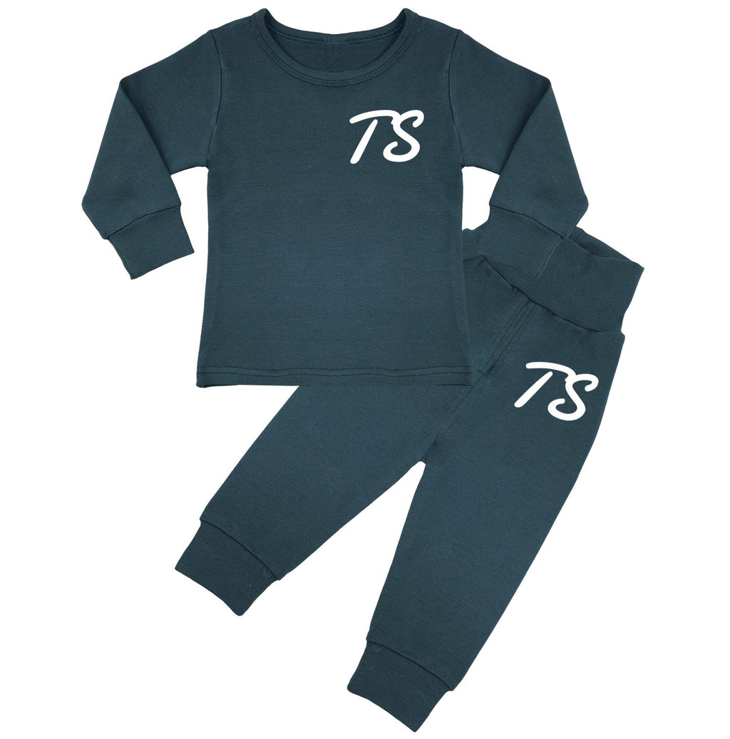 Montana Personalised Initials Lounge Suit - Teal