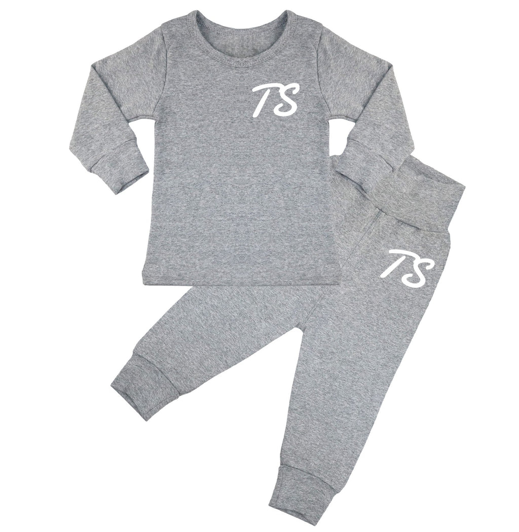 Montana Personalised Initials Lounge Suit - Grey