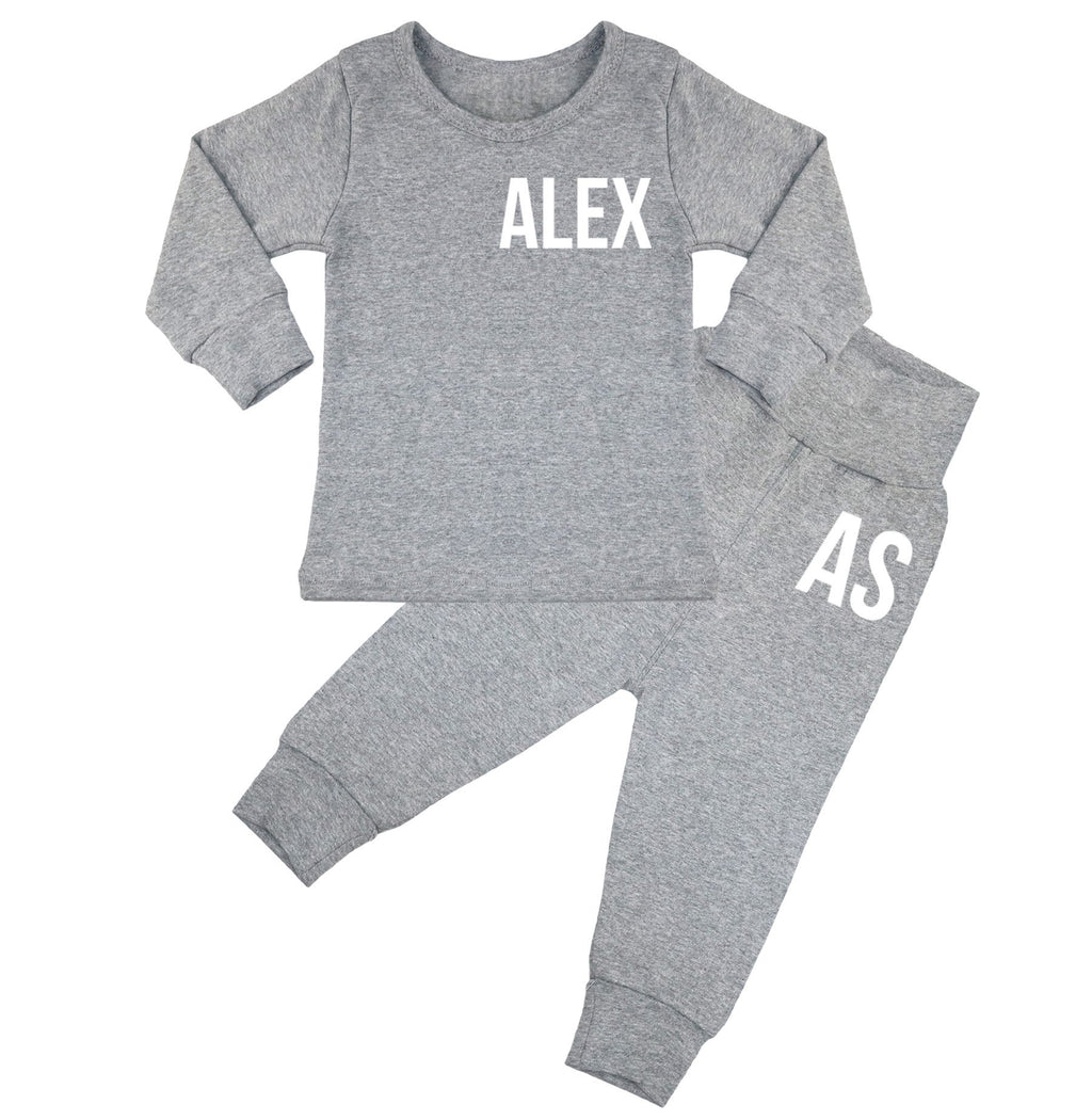 Ohio Personalised Name & Initials Lounge Suit - Grey
