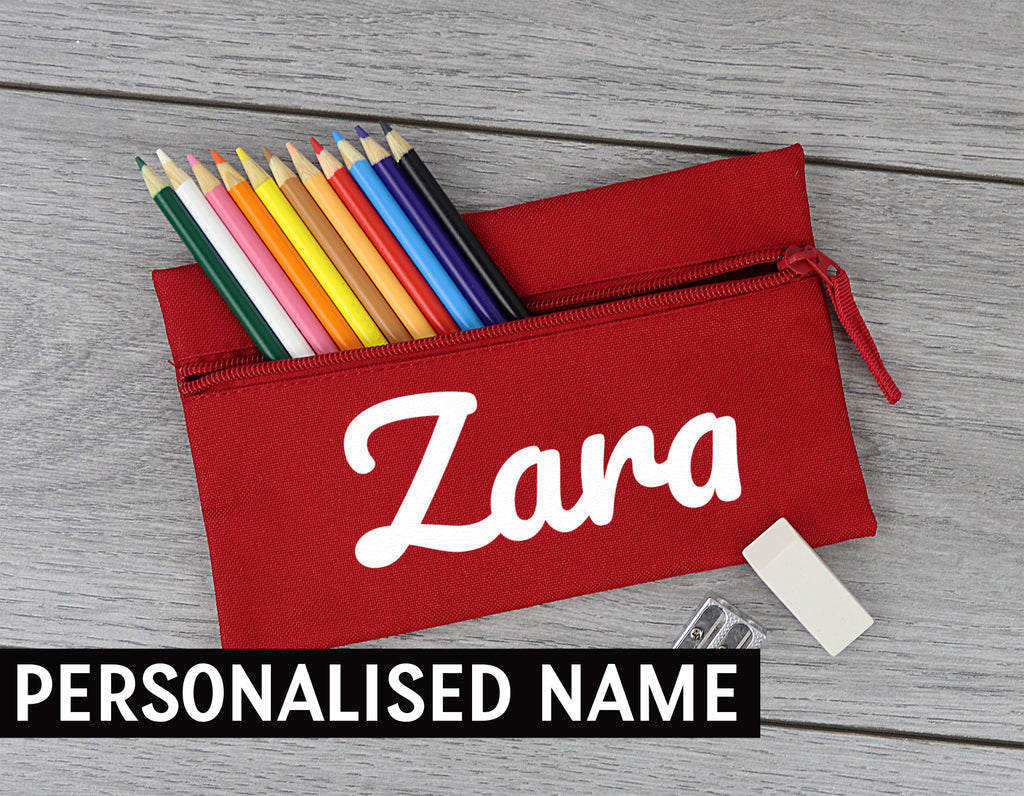 PERSONALISED Fancy Name - Pencil Case, Kids Pencil Case, Stationary Bag Holder