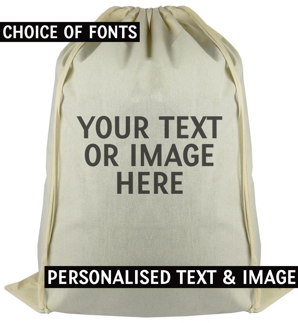 PERSONALISED Your Own Text or Photo - Carry Sack