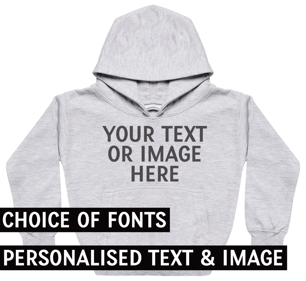PERSONALISED Your Own Text or Photo- Kids hoodie