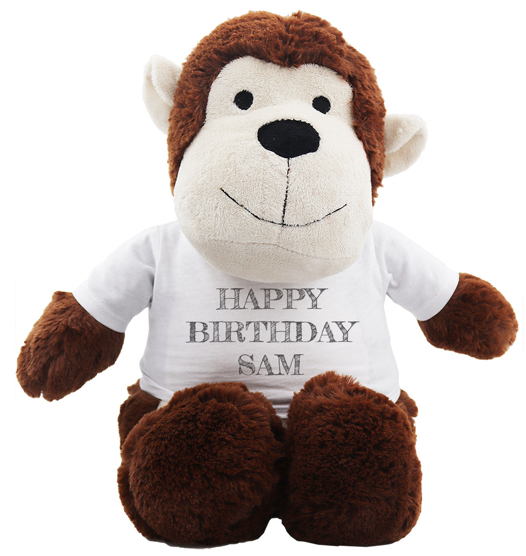 PERSONALISED Happy Birthday Name - Teddy & Teddy T-Shirt Message