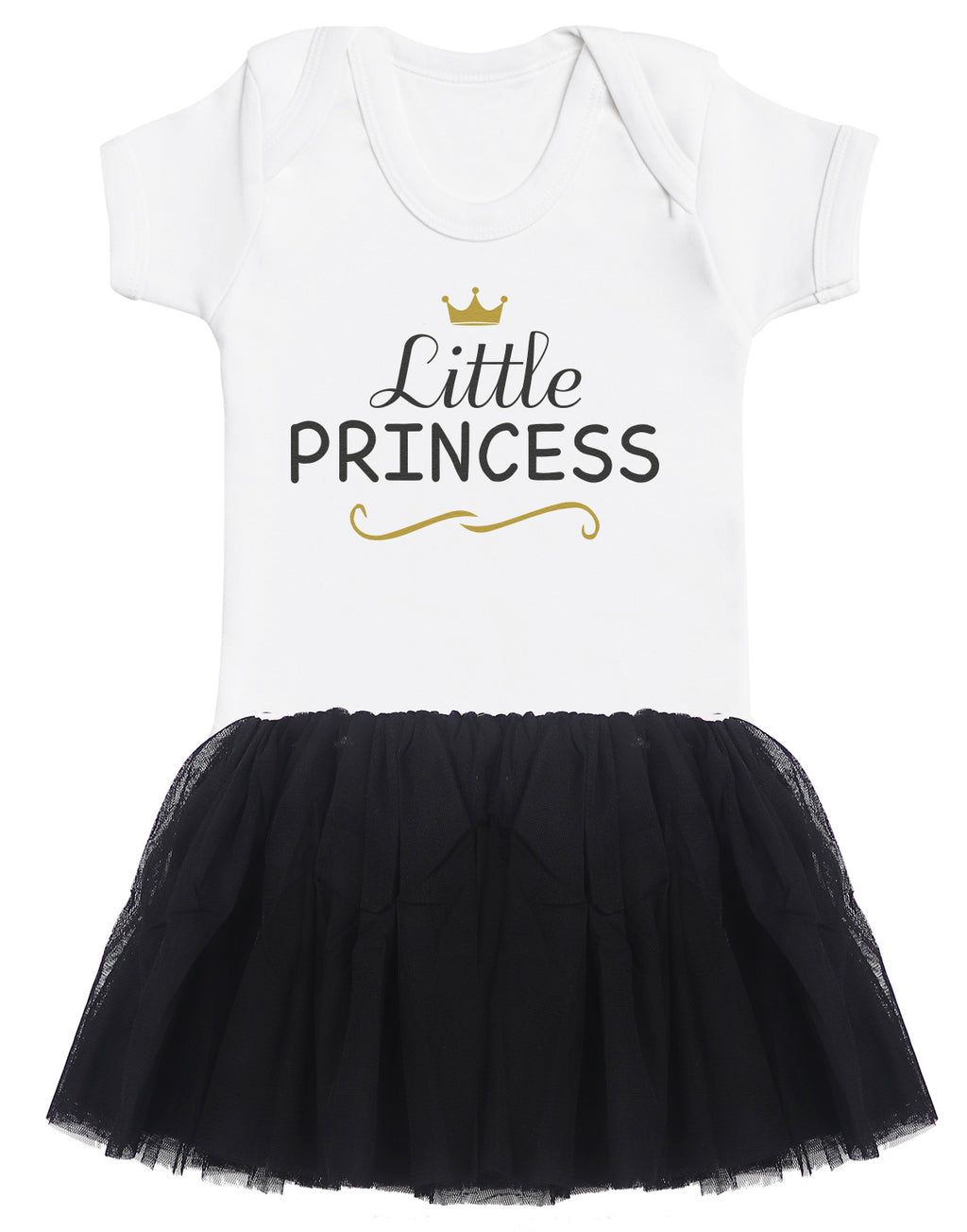 Little Princess Baby Bodysuit and Black Tutu Set