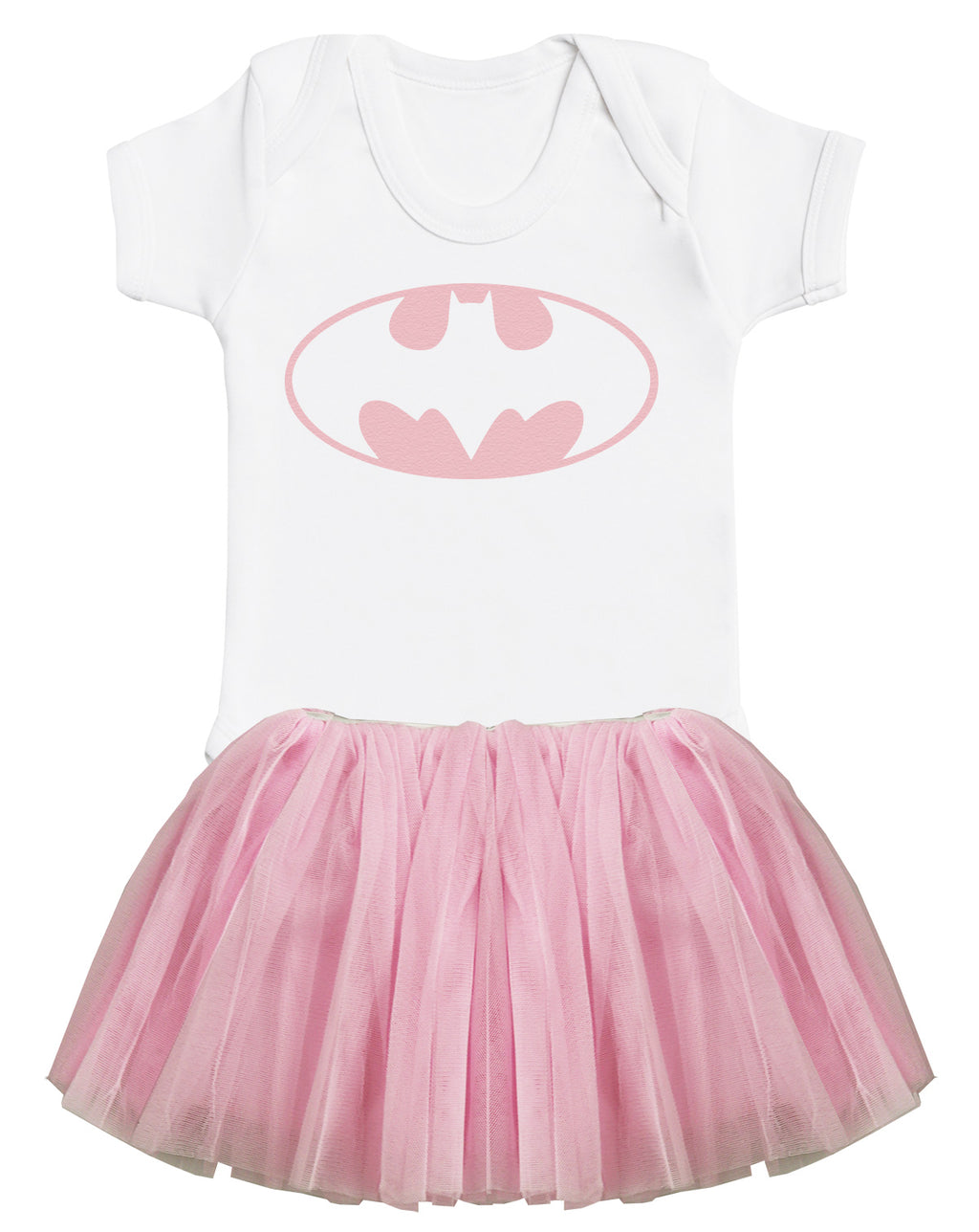 Batgirl Baby Bodysuit and Pink Tutu Set