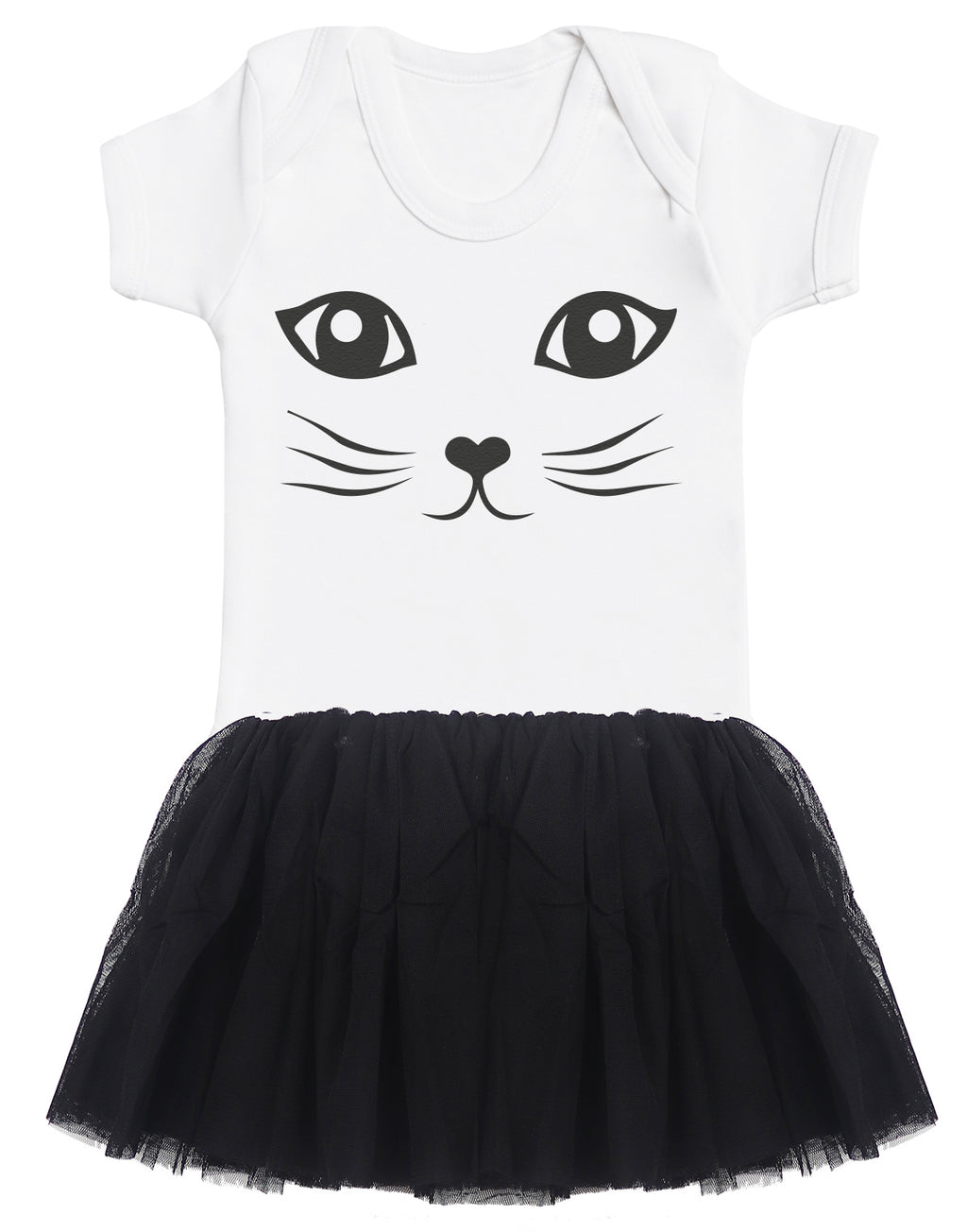 Cat Baby Bodysuit and Black Tutu Set