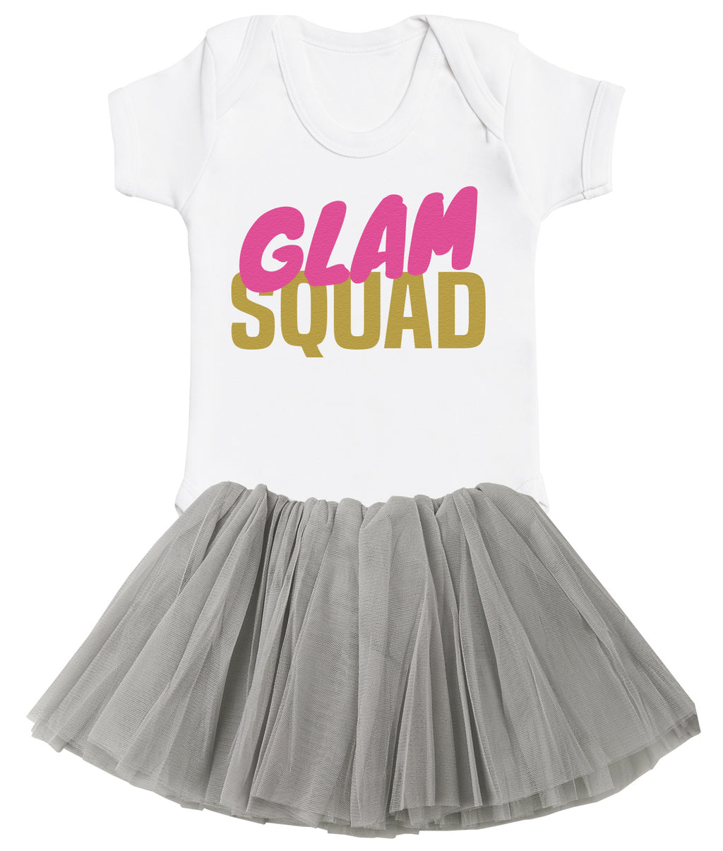 Glam Squad Bodysuit and Grey Tutu Set