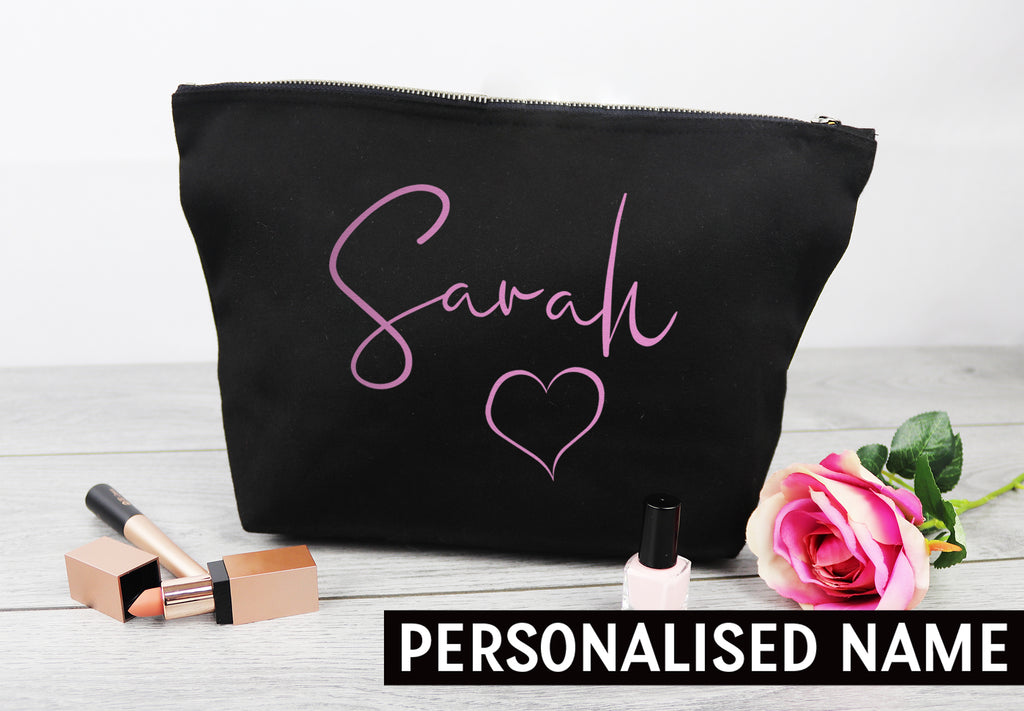PERSONALISED Your Name - Canvas Accessory Make Up Bag - Gift For Her, Gift For Mum, Gift for Girlfriend