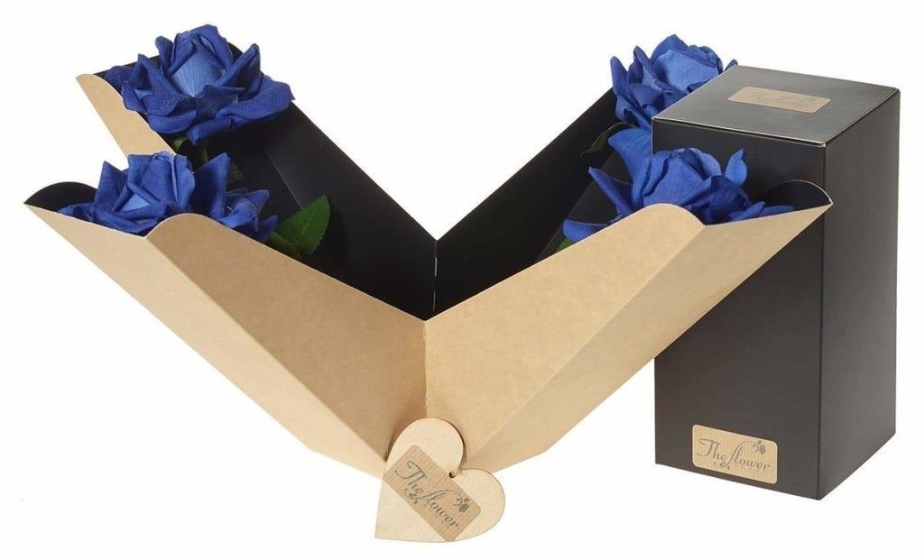 Artifical Blue Rose Perfect Gift Box - The Gift Project
