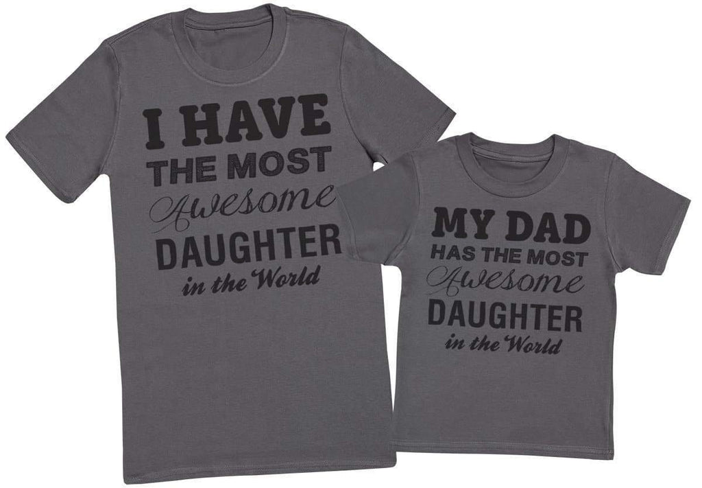 Awesome Daughter - Mens T - Shirt & Kids T - Shirt - The Gift Project