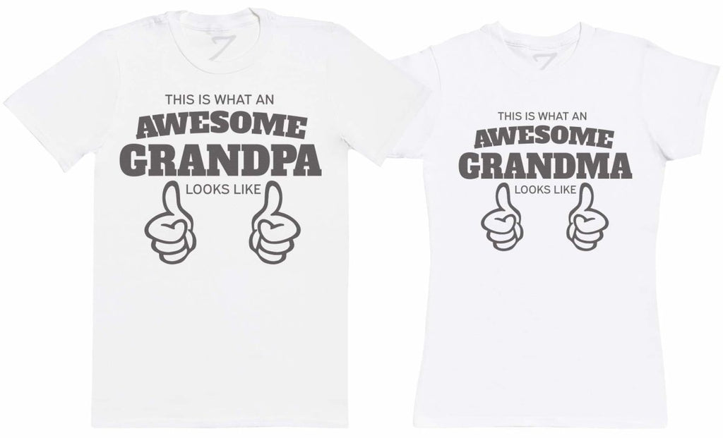 Awesome Grandparents - Twin Set - Mens & Womens T-Shirts - (Sold Separately) - The Gift Project