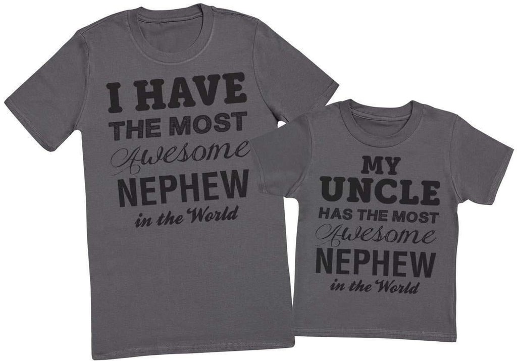 Awesome Nephew - Uncle T - Shirt & Kids T - Shirt - The Gift Project