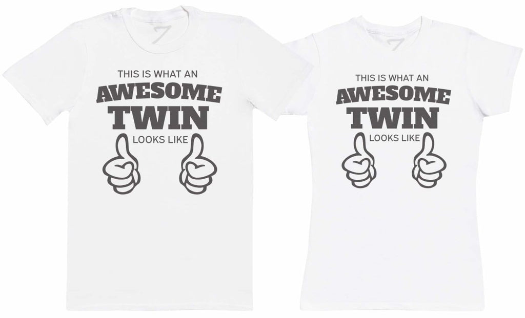 Awesome Twins - Twin Set - Mens & Womens T-Shirts - (Sold Separately) - The Gift Project