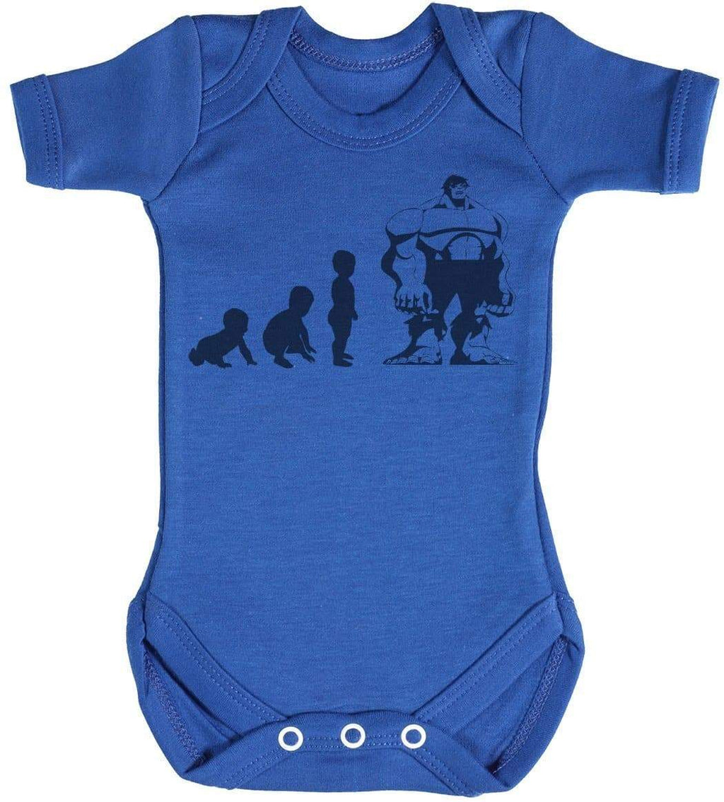 Baby Evolution To A Hulk - Baby Bodysuit - The Gift Project