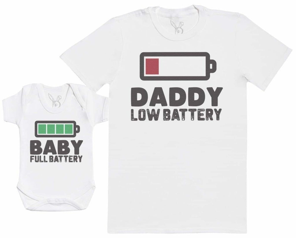 Baby Full Battery - Baby Gift Set with Baby Bodysuit & Father's T - Shirt - The Gift Project