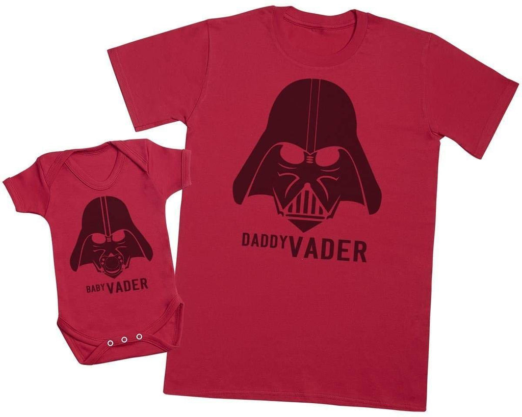 Baby Vader & Daddy Vader - Mens T Shirt & Baby Bodysuit - The Gift Project