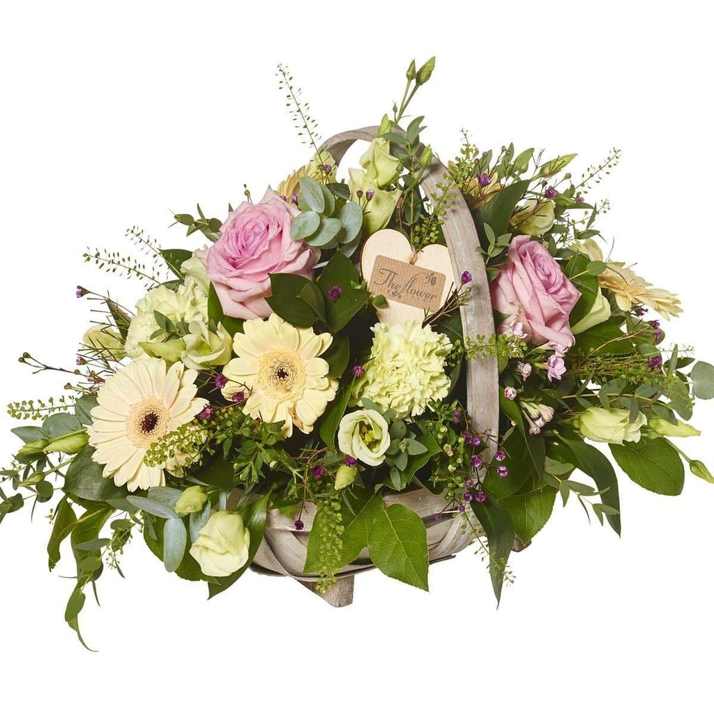 Beautiful Meadow Basket Arrangement - Flowers Gift - The Gift Project