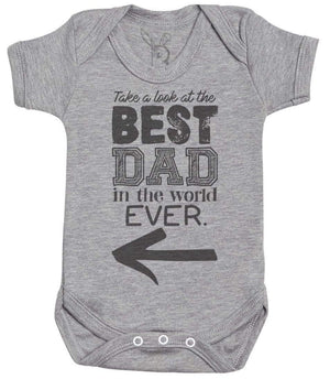Best Dad Ever In The World Baby Bodysuit - Baby Onsie - Baby Gift - The Gift Project