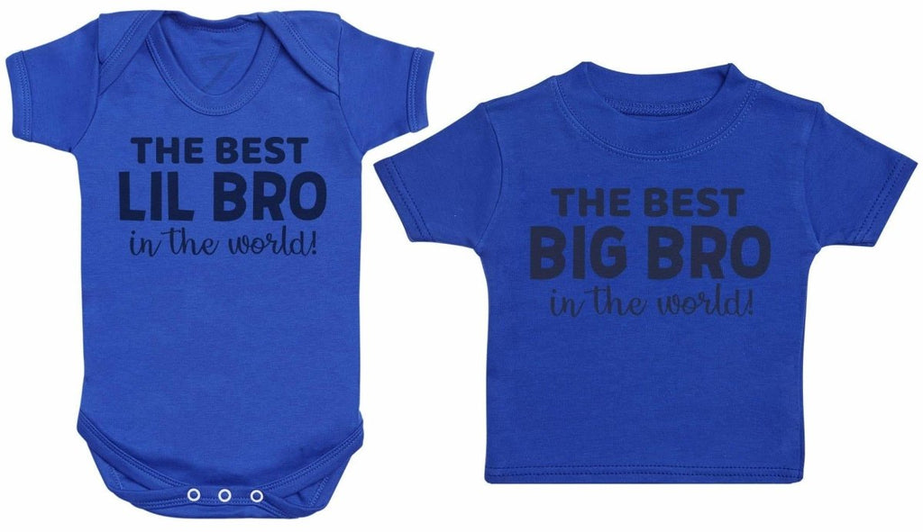 Best Lil Bro & Big Bro In The World - Matching Kids Set - Bodysuits & T-Shirts - Gift Set - The Gift Project