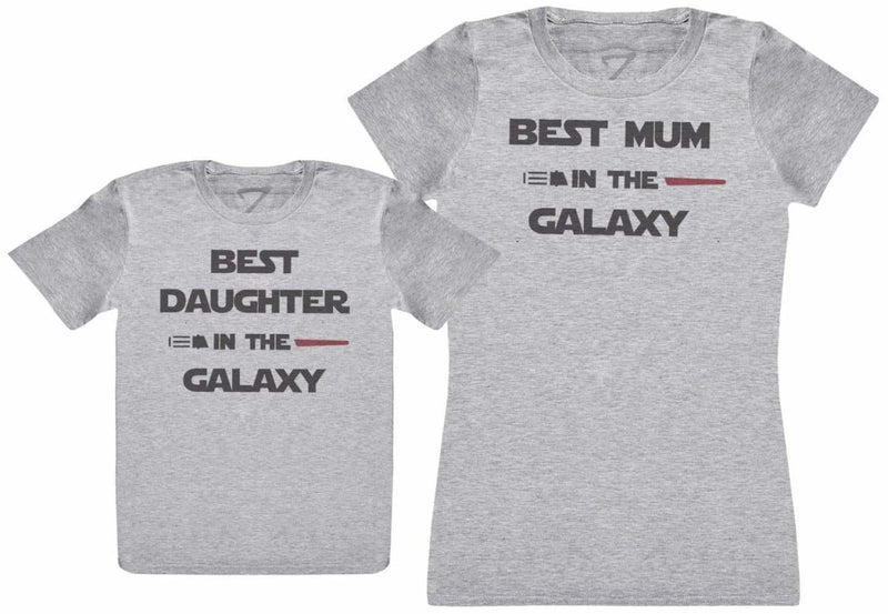 Best Mum And Daughter In The Galaxy - Kid's Gift Set with Kid's T-Shirt & Mother's T-Shirt - The Gift Project